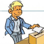Waehler an Wahlurne